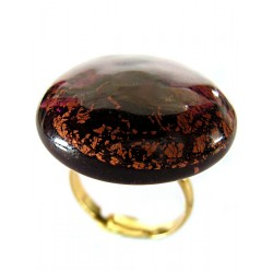 Large round crystal France ring