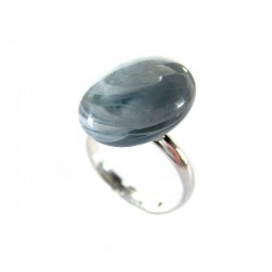 RIANA BLUE GRAY CRYSTAL RING