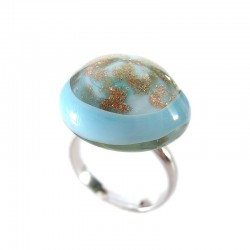 HERSILIE TURQUOISE CRYSTAL RING