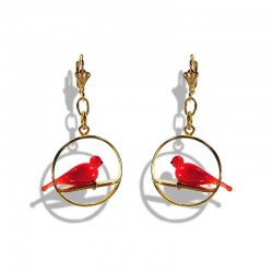 RED COLOMBE CRYSTAL EARRINGS
