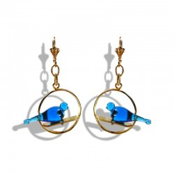 TURQUOISE CRYSTAL DOVE EARRINGS