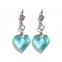ACUTE PASTEL CRYSTAL HEART EARRINGS