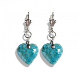 MATRIX CRYSTAL HEART EARRINGS