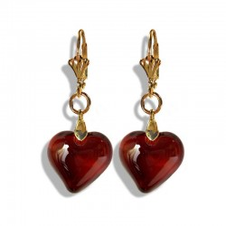 TOPAZ CRYSTAL HEART EARRINGS