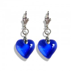 SAPPHIRE CRYSTAL HEART EARRINGS