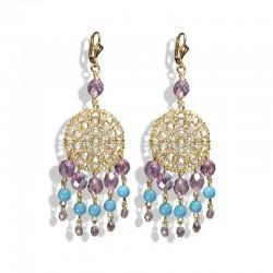 Dreamcatcher crystal earrings
