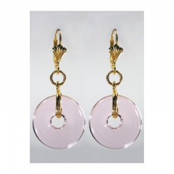 PI CHINESE PINK CRYSTAL EARRINGS