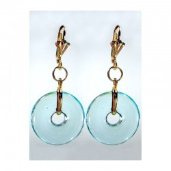CHINESE PI EARRINGS IN ACUTE PASTEL CRYSTAL