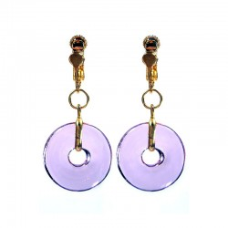 PI CHINESE LILAC CRYSTAL EARRINGS