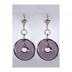 PI CHINESE PURPLE CRYSTAL EARRINGS