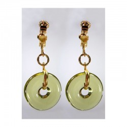 PI CHINESE OLIVINE CRYSTAL EARRINGS