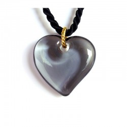 GRAY CRYSTAL VALENTINA HEART NECKLACE