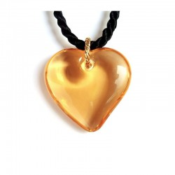 VALENTINA APRICOT CRYSTAL HEART NECKLACE
