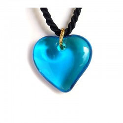 VALENTINA HEART TURQUOISE CRYSTAL NECKLACE