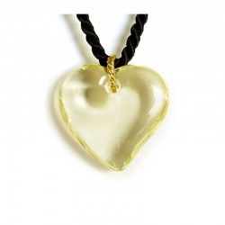 VALENTINA YELLOW CITRINE CRYSTAL HEART NECKLACE