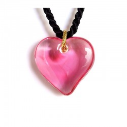 VALENTINA FUCHSIA CRYSTAL HEART NECKLACE