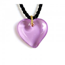 VALENTINA LILAC CRYSTAL HEART NECKLACE