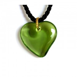 VALENTINA OLIVINE CRYSTAL HEART NECKLACE