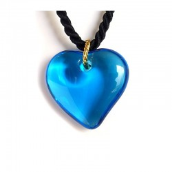 VALENTINA SEA BLUE CRYSTAL HEART NECKLACE
