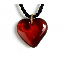 VALENTINA RUBY CRYSTAL HEART NECKLACE