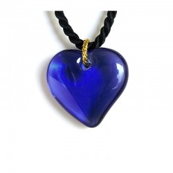 VALENTINA SAPPHIRE HEART CRYSTAL NECKLACE