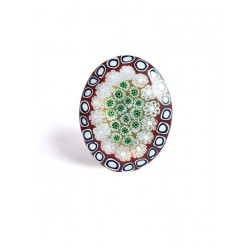 Red Murines Venice Oval Brooch