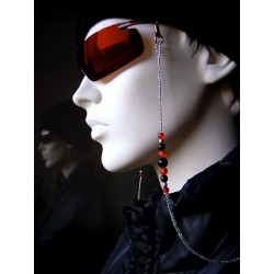 Glasses chain with glass beads and seed beads