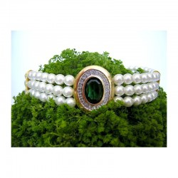 FLORIN EMERALD WEDDING CHOKER