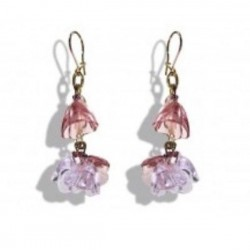PURPLE AMETHYST CRYSTAL PENDANT EARRINGS