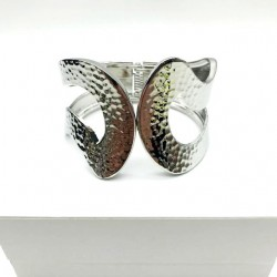 SILVER ARTICULATED WOMEN CUFF