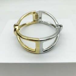 WOMEN'S ARTICULATED TWO-TONE CUFF BRACELET