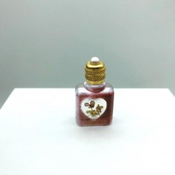 MINIATURE DE PARFUM COLLECTION FLACON MARRON CŒUR FLEUR NATURELLE