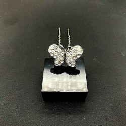 BUTTERFLY STRASS WEDDING HAIRPIN