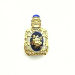 MINIATURE PERFUME COLLECTION PORCELAIN ROSE GOLD OVEN BLUE GIFT IDEA