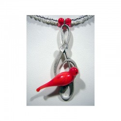 Collier Colombine rouge
