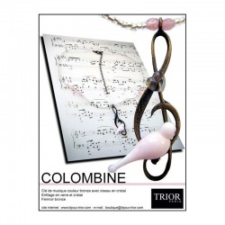 Collier Colombine rose