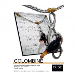 Collier Colombine topaze