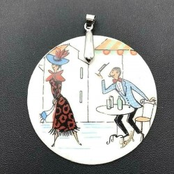 LIMOGES PENDANT FROM THE LOVERS 55 MM