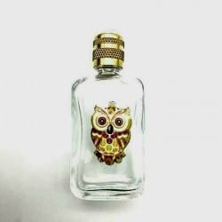 MINIATURE PERFUME COLLECTION OR FOR THE WHITE GLASS BAG OWL ENAMEL