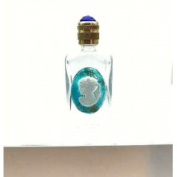 MINIATURE OF RECTANGULAR PERFUME WHITE DECOR CAMEE TURQUOISE - GIFT