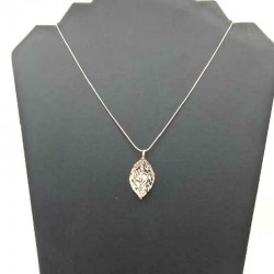 STRASS PENDANT IN A SNAKE CHAIN SNAKE CHAIN 45 CM