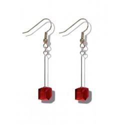 Boucles d'oreilles Cube cristal Swarovski