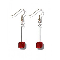Earrings Swarovski Crystal Cube