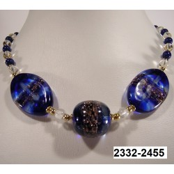 SINGLE PIECE EXCEPTIONAL SAPPHIRE COLOR CRYSTAL NECKLACE