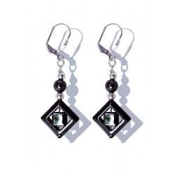 Earrings hematite