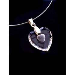 Crystal Heart Pendant Necklace - Jewelry