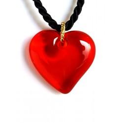 Collier avec un pendentif cœur en cristal de France