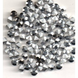 50 ROUND STRASS A CRYSTAL SS19 - 4.4 - 4.5 MM SILVER COMET