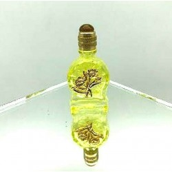 LECYTHIOPHILE COLLECTION PERFUME MINIATURE - FLOWER DECORATION ON YELLOW BOTTLE