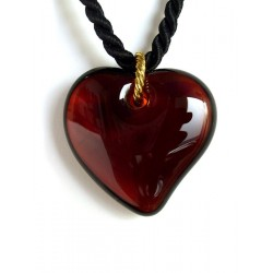 Necklace with a crystal heart pendant